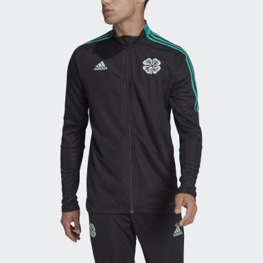 Men Football Black Celtic FC Tiro Track Top