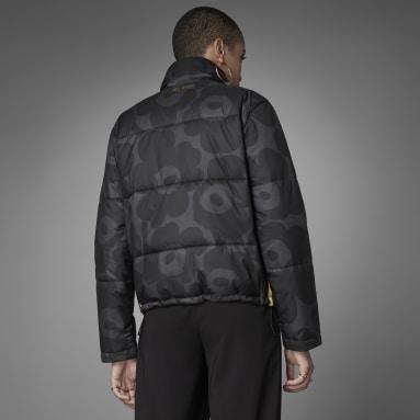 Women Originals Black Marimekko Short Puffer Jacket