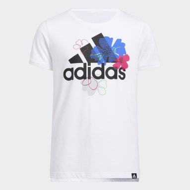 Youth Training White Graphic Vent Tee