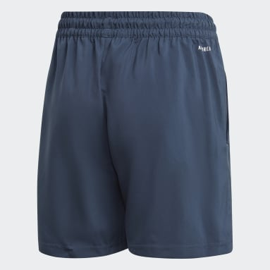 Youth 8-16 Years Padel Tennis Blue Club Tennis 3-Stripes Shorts