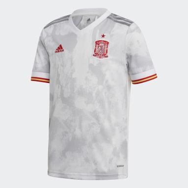 Camiseta segunda equipación España Blanco Niño Fútbol