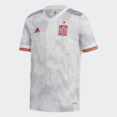 Jersey Visitante España Blanco Niño Fútbol