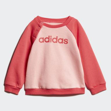 Girls Sportswear Pink Linear Fleece Jogger Set