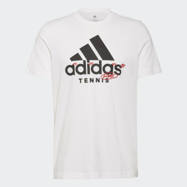 белый Футболка для тенниса Graphic Logo