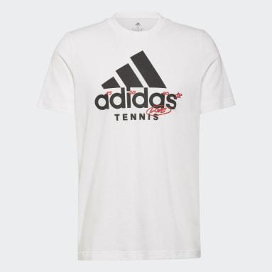 Playera Logo Estampada para Tenis Blanco Hombre Tennis