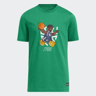 เด็ก บาสเกตบอล สีเขียว เสื้อยืด adidas x LEGO® Donovan Mitchell