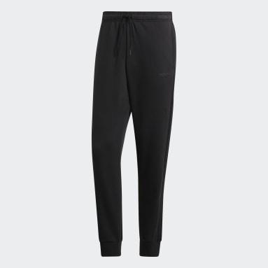 Pantalon Essentials 3-Stripes Tapered Cuffed noir Hommes Essentials