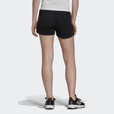 Women Training Black Designed to Move Knit 3-Stripes Sport Shorts