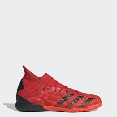 Futbal červená Kopačky Predator Freak.3 Indoor