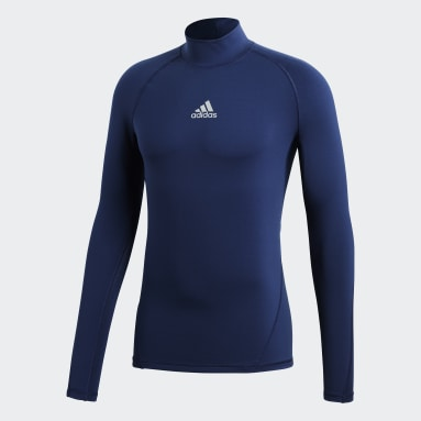 Maglia Alphaskin Sport Climawarm Blu Uomo Calcio