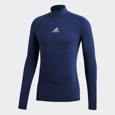 Muži Fotbal modrá Tričko Alphaskin Sport Climawarm