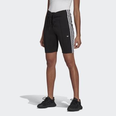 Frauen Originals Laced High-Waisted Shorts Schwarz