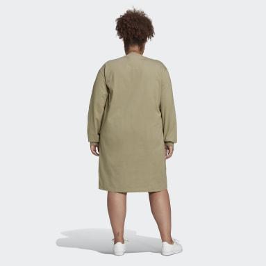 Robe Long Sleeves Vert Femmes Originals