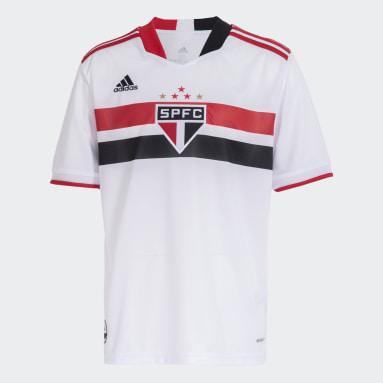 Camisa 1 São Paulo FC 21/22 Branco Meninos Futebol