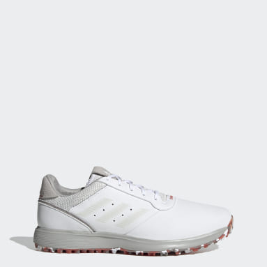 Golf White S2G Spikeless Leather Golf Shoes