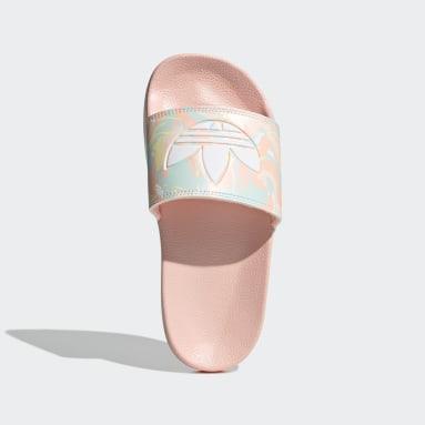 Girls Originals Pink Adilette Lite Slides