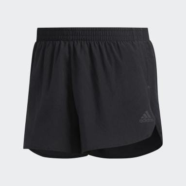Men Running Black Own the Run Split Shorts