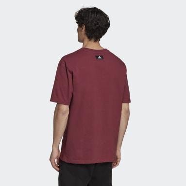 Men Sportswear Burgundy adidas Sportswear Future Icons Logo Graphic Tee