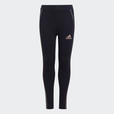 Girls Fitness Og Træning Blå Cotton tights