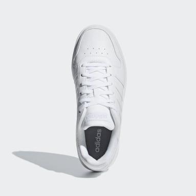 Women Walking White Hoops 2.0 Shoes