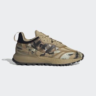 Men's Originals Beige ZX 2K Boost 2.0 Trail Shoes