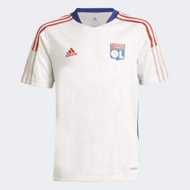 Youth 8-16 Years Football White Olympique Lyonnais Tiro Training Jersey