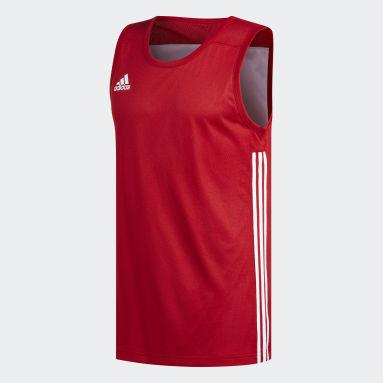 Mænd Basketball Rød 3G Speed Reversible trøje