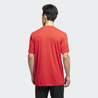 Men Training Red Designed2Move Heather Tee