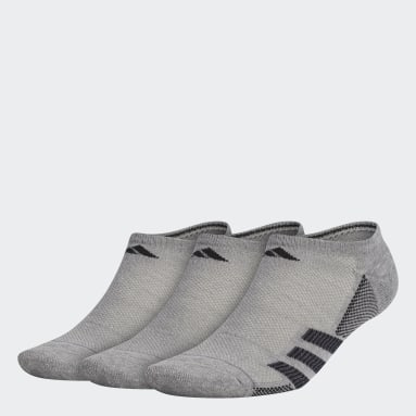 Men's Training Grey Superlite Stripe No-Show Socks 3 Pairs
