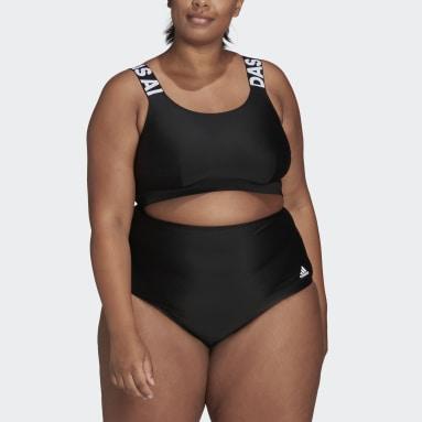 Ženy Plavání černá Horní díl bikin SH3.RO Branded (plus size)