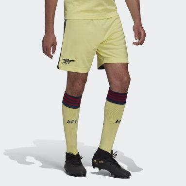 Football Yellow Arsenal 21/22 Away Shorts