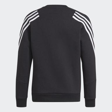 Boys Training Black Future Icons 3-Stripes Crew Sweatshirt