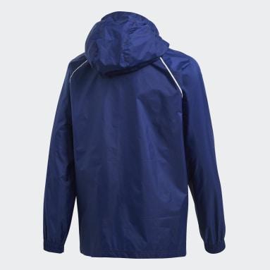 Kinderen Fitness En Training Blauw Core 18 Regenjack