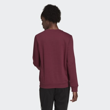 Sweatshirt em Fleece 3-Stripes Essentials Bordô Mulher Sportswear