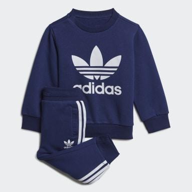 Conjunto sudadera cuello redondo y pantalón Azul Niño Originals