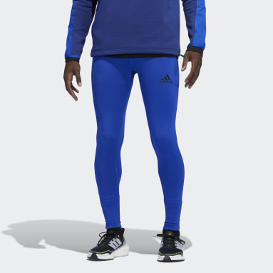 Tight lunghi COLD.RDY Techfit Blu Uomo Running