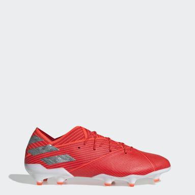 Calzado de Fútbol Nemeziz 19.1 Terreno Firme Rojo Hombre Fútbol