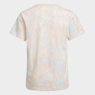 Youth Originals Pink Allover Print Marble Tee