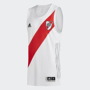 Camiseta de basquet titular de River Plate Blanco Hombre Básquet