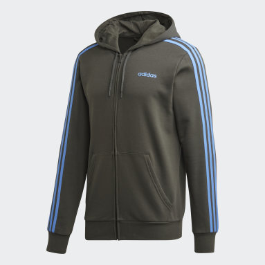 Track Jacket Essentials 3-Stripes Verde Uomo Fitness & Training