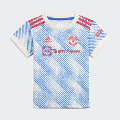 Børn Fodbold Hvid Manchester United 21/22 Baby udebanesæt