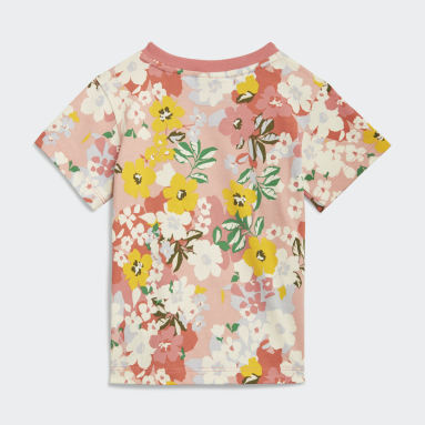 Girls Originals Pink HER Studio London Floral T-Shirt