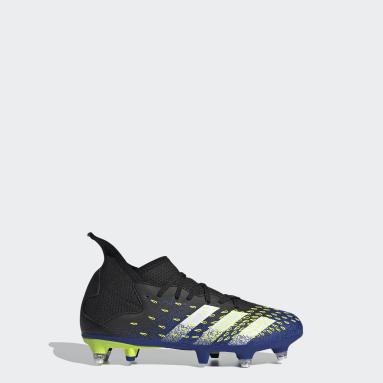 Kids Football Black Predator Freak.3 Soft Ground Boots