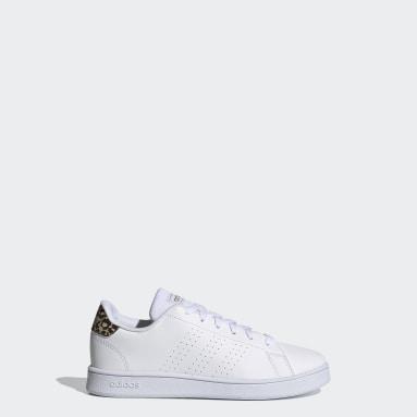 Kids Sport Inspired White Advantage Shoes