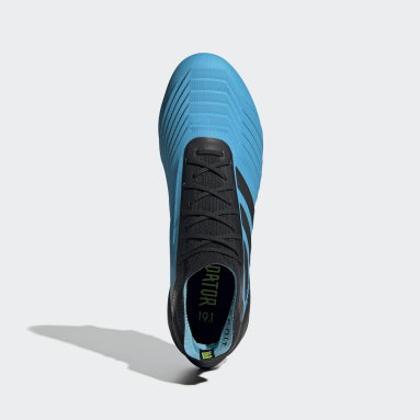 Calzado de Fútbol Predator 19.1 Terreno Suave Turquesa Hombre Fútbol