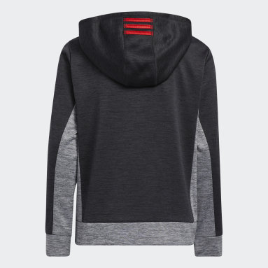Youth Training Red Colorblocked Mélange Hoodie