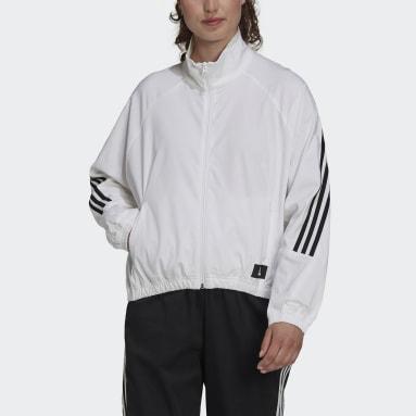 Ženy Sportswear biela Tepláková bunda adidas Sportswear Future Icons Woven