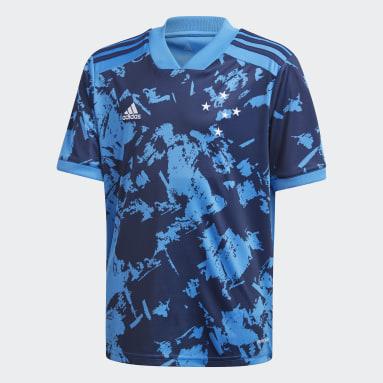 Camisa 3 Cruzeiro 20/21 Azul Meninos Futebol