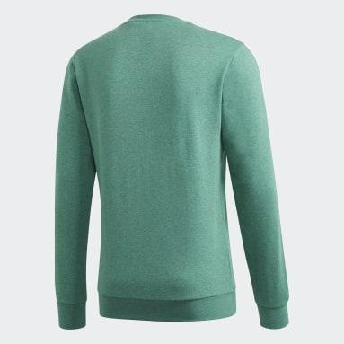 Felpa Essentials 3-Stripes Verde Uomo Sportswear