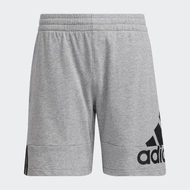 Youth Training Grey Badge of Sport French Terry Shorts
